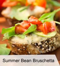 VegNews.SummerBeanBruschetta