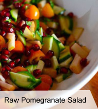 Raw Pomegranate Salad
