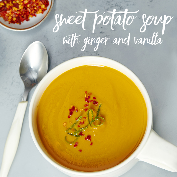 Sweet Potato Soup with Ginger and Vanilla V2