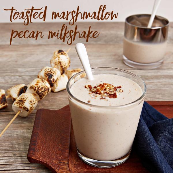 Toasted Marshmallow Pecan Milkshake