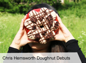 VegNews.ChrisHemsworthDoughnutDebuts