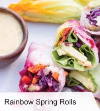 VegNews.RainbowSpringRolls