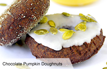 VegNews.ChocolatePumpkinDoughnuts